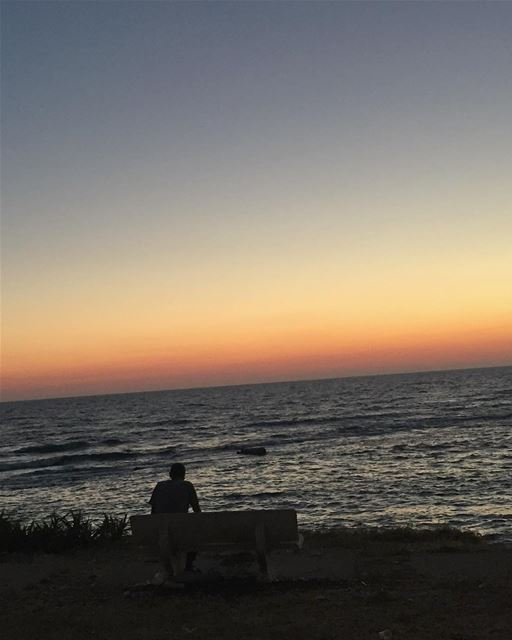 Just Breath 😍 lebanon tyre sunset beach breath watching summer ... (Tyre, Lebanon)