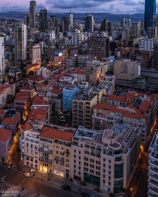 Colorful Nights 🌆... beirut city lebanon dji drones quadcopter ... (El Saifi, Beyrouth, Lebanon)