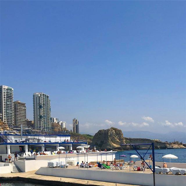 Beirut's iconic beach club sporting beirut beach mediterranean ... (Beirut, Lebanon)