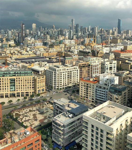 Não cansamos de dizer que Beirute vista do alto é linda, de qualquer ângulo (Downtown Beirut)