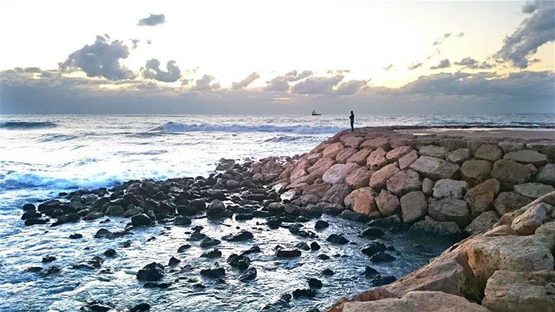 Saida, Lebanon 😊💙 Credit to @hussein.fwz___________________________... (Saïda, Al Janub, Lebanon)