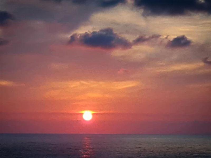 Beautiful sunsets need cloudy skies.Paulo Coelho super_lebanon ... (Kfar Abida)