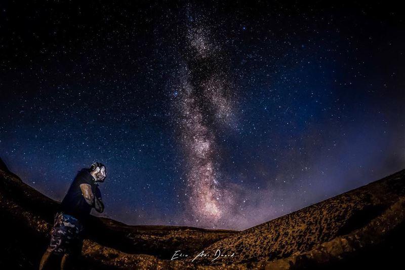 The wait is over 😁 milkyway night stars sky astrophotography ... (Kfardebian,Mount Lebanon,Lebanon)