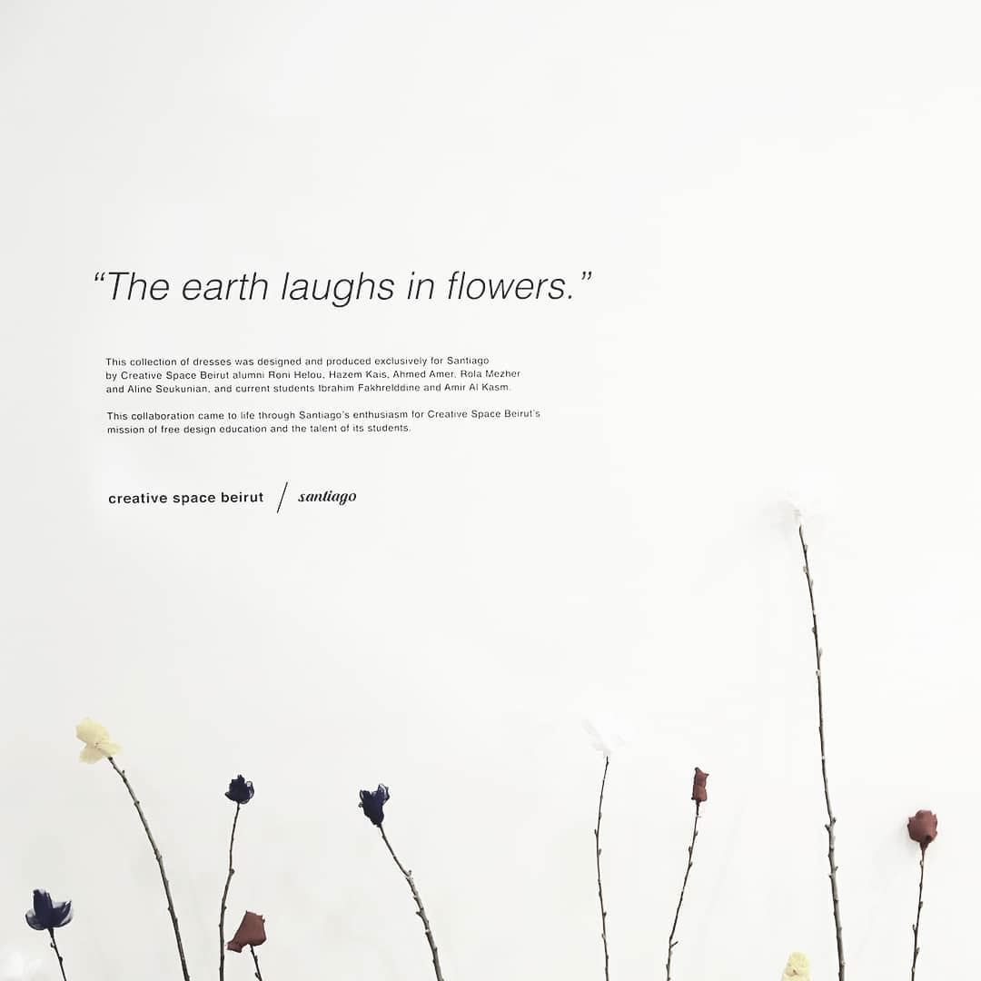 """The earth laughs in flowers"" a collaboration between @creativespacebeirut... (Santiago Beirut)"