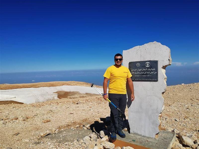"From the highest peak in Lebanon: ""QORNET EL SAWDA"" 3088m lebanon ... (القرنة السودة)"