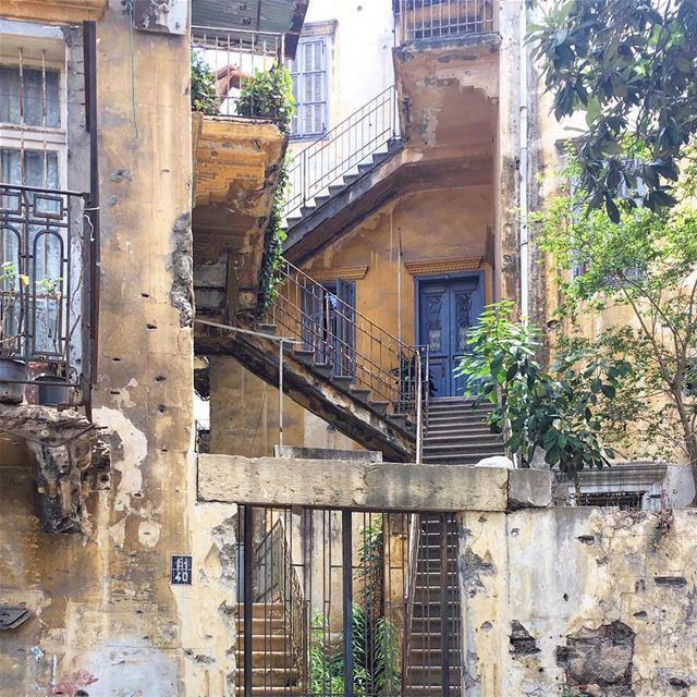 barely keeping it together 🏚 | ٤٠••• ihavethisthingwithbeirut urban ... (Beirut, Lebanon)