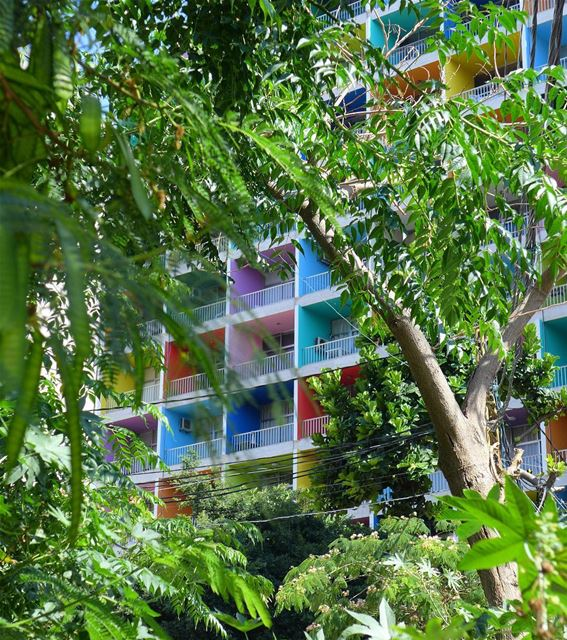 ....Beirut rainbow 🌈.. beirutdowntown architecture lebanontraveler ... (Manara Beyrouth)