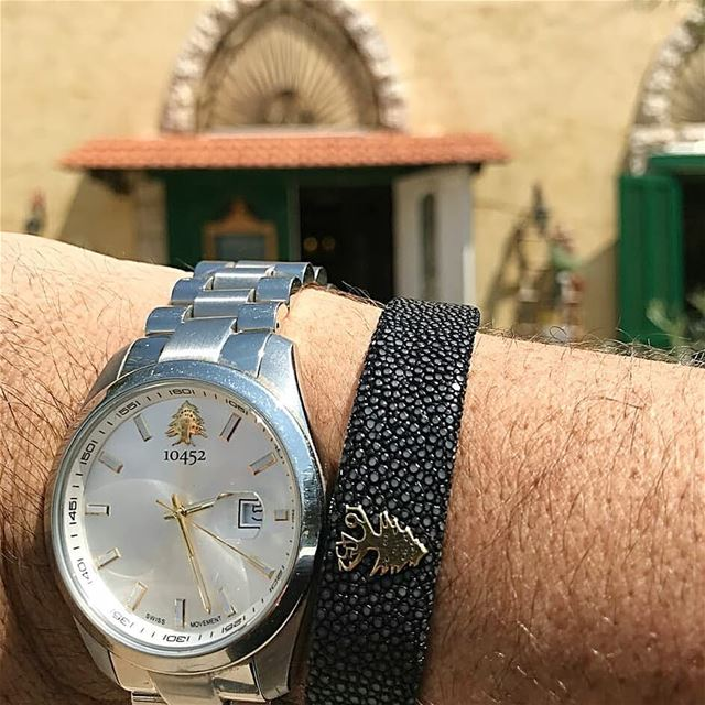 Visiting ksara on a beautiful spring day . My 10452DNA classic watch... (Château Ksara)