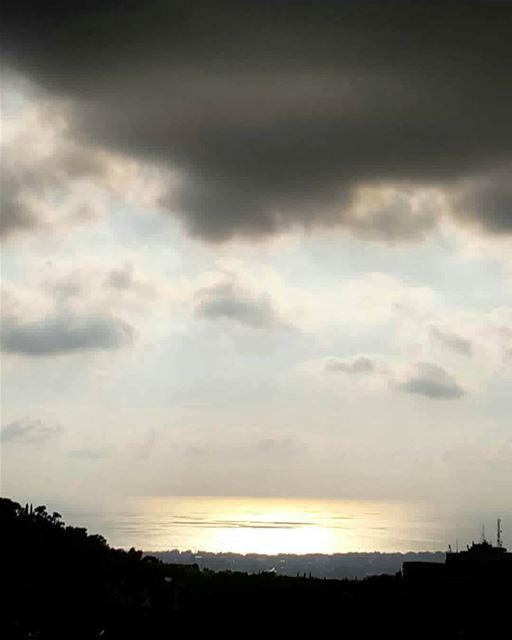 watching ...in silence sunset clouds sunsetlover sky lebanon iger ... (El Louaïzé, Mont-Liban, Lebanon)