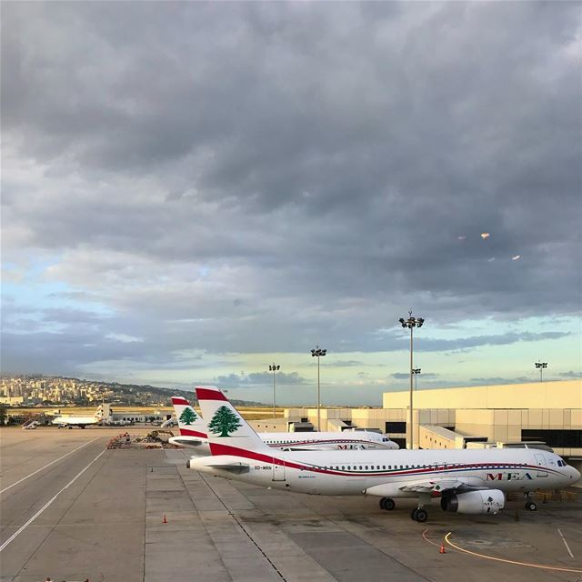 Beirut sky  MEA  sky  clouds  airplane  airbus  photooftheday ... (Aéroport International Rafic Hariri De Beyrouth)