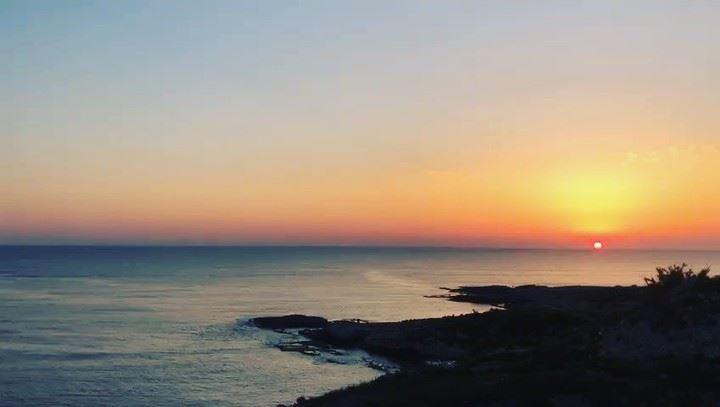 sunset from beirut lebanon غروب الشمس من بيروت لبنان