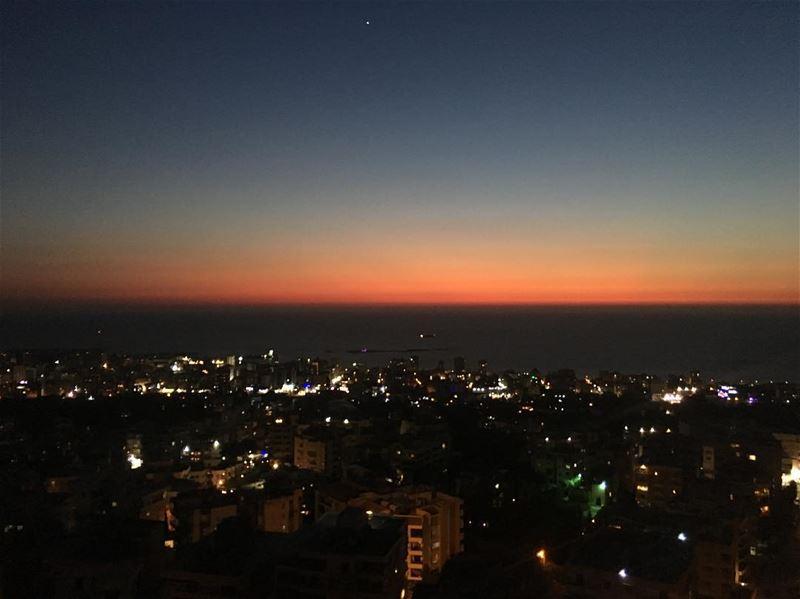 Today's Sunset sunset sunset_pics sunsetart sunsetaroundtheworld ... (Saïda, Al Janub, Lebanon)