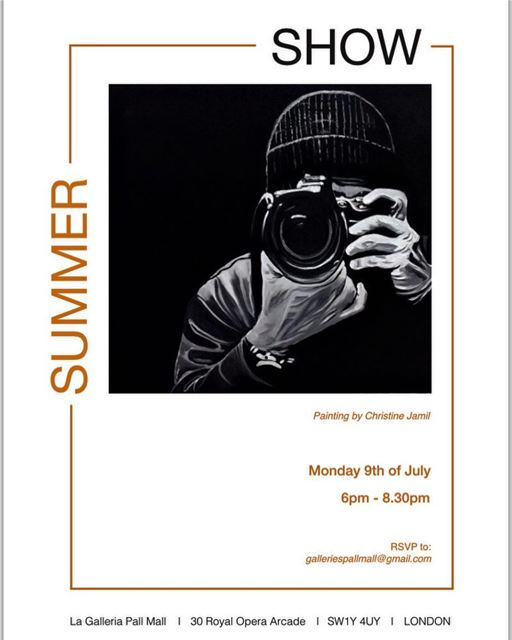 Invitation for the Preview Night of My Summer Exhibition 2018 drinks and...