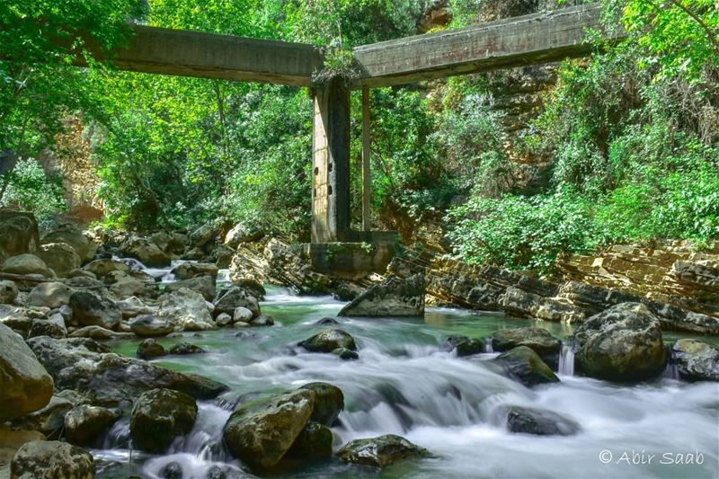 Time is like a river.. You can't touch the same water twice, because the... (Nahr Ibrahim, Mont-Liban, Lebanon)