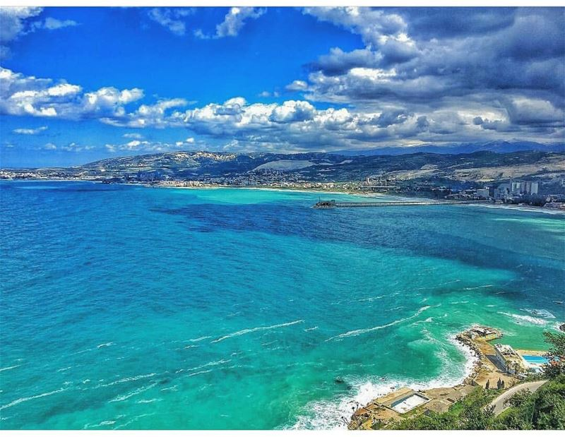 Fifty shades of blue! By @rawadthenomad---------------------------------- (Saydet El Nourieh)