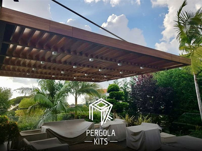 Suspended with Louvers Roofing Pergola Kits. PergolaKitsLebanon in Bsalim... (Bsalim, Mont-Liban, Lebanon)
