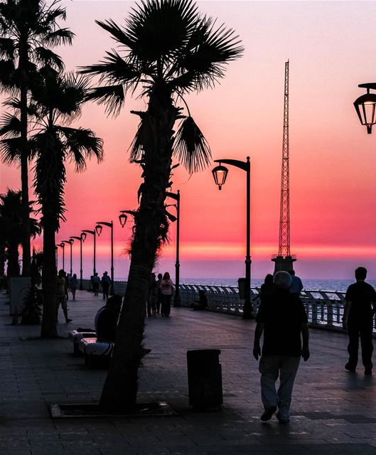 Dusk sunset beirut lebanon landscape nature lebanon_hdr loves_lebanon... (Beirut, Lebanon)