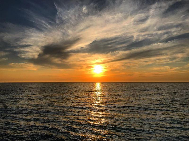 Sunsets ensure a beautiful closure no matter what‼️.............. (Lebanon)