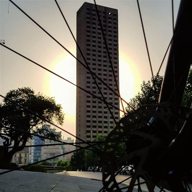 Through my wheels.. I meet dark stories with bright shades.. 🚲🍃No more... (Beirut, Lebanon)