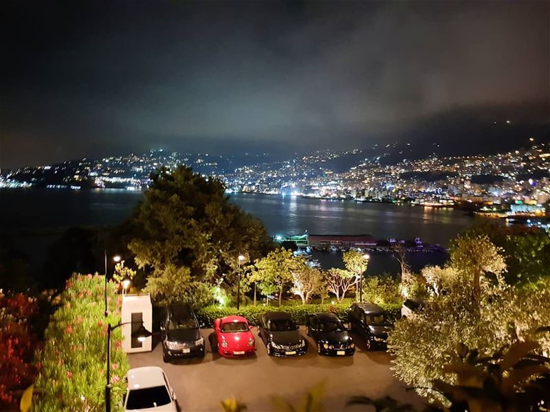 sea gulfshores mountains clouds nightphotography livelovelebanon ... (Jounieh keserwan جونية كسروان)
