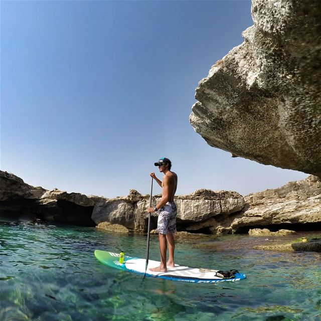 Defying all obstacles while paddling my way into tropical paradise ? ... (Batroûn)