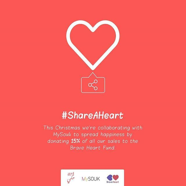 This Christmas, we're collaborating with @mysouk to share our hearts by donating 15% of all our sales on our MySouk.com store to the Brave Heart Fund.