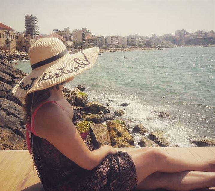 deece deecebythesea jounieh lebanon donotdisturb sea sun sunnyday... (Deece by the sea)