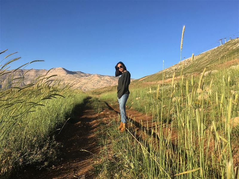 لبنان الأخضر 🍃🌾..... nature outdoors beautifulweather sky ... (Zaarour Club)