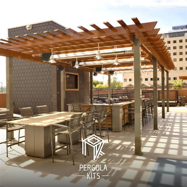 Wooden Finish Aluminum Roofing with Aluminum Structure Pergola Kits. ...