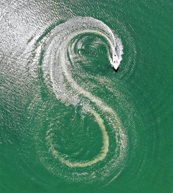 • 8 or S • ⁉️ luna_drone mavicair mavic dji sunday aerialphotography... (Lac de Qaraaoun)