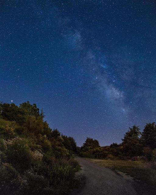 First milky way shot for this year .......... nightphotography ... (Chouf)