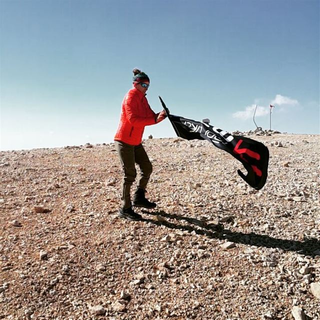 Enjoying the strong wind highest peak in Lebanon maiersports ... (Qurnat as Sawda')