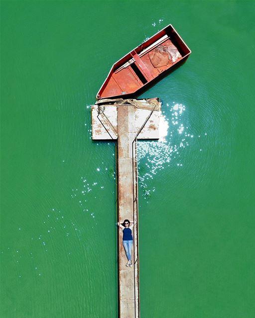 • فلّوكَة • ⛵️ luna_drone mavicair mavic dji aerialphotography drone... (Lac de Qaraaoun)