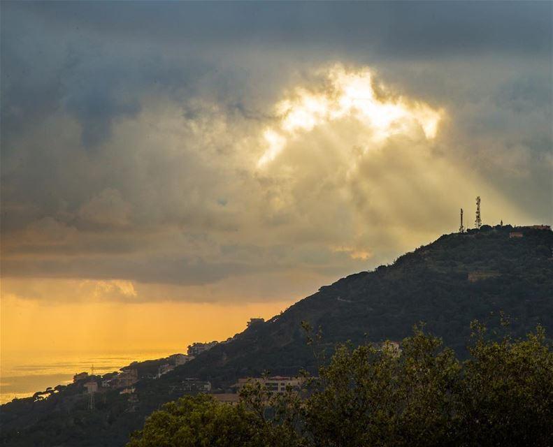 Let there be light......... light savior spotlight sunset ... (Matn District)
