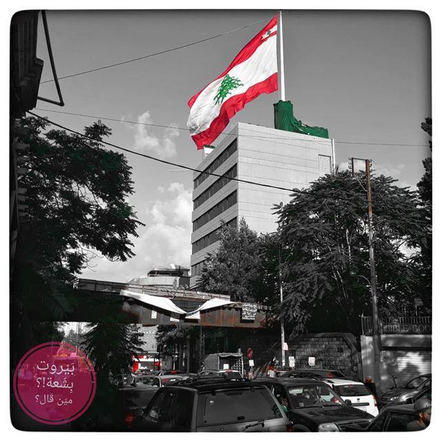 🇱🇧 🇱🇧🇱🇧🇱🇧🇱🇧The Lebanese Flag... بيروت_مش_بشعة بيروت... (Mar Mikhael-Armenia The Street)