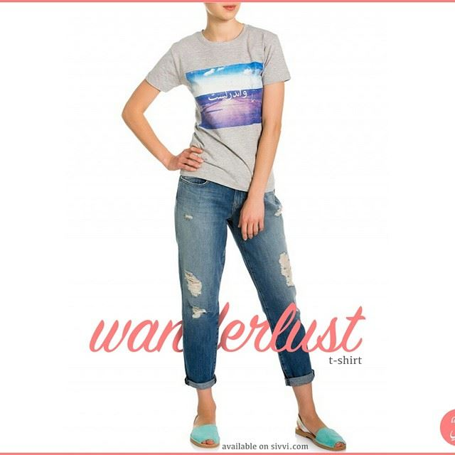 For the ladies who love to travel and explore the world, we present the Wanderlust T-shirt. art7ake shopping UAE Fashion Dubai