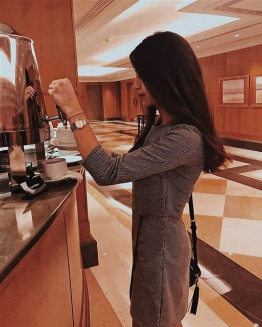 Just like my coffee...I am dark, bitter and too hot for you☕🔥 (Mövenpick Hotel & Resort Beirut)