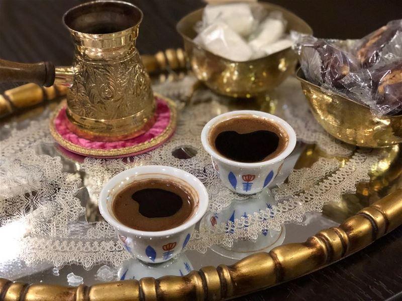 قهوة بعد الافطار قهوة_عربية ليالي_رمضان عاللبناني livelivebeirut ... (Ghaziyé, Al Janub, Lebanon)