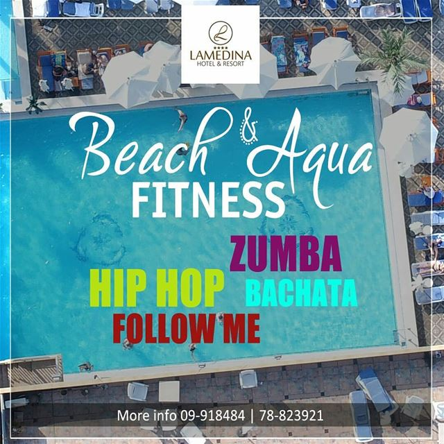 Register for the Beach & Aqua Fitness Classes at Lamedina Hotel, Beach... (Joünié)