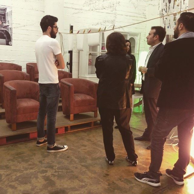 Earlier tonight during our exhibition at @minus1lb. Great peop, great conversation and awesome punch.