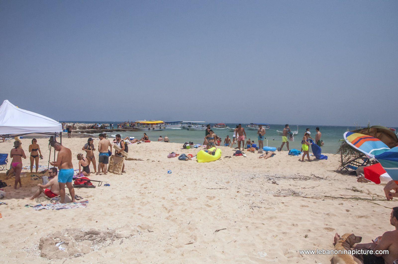 The Island sand beach
