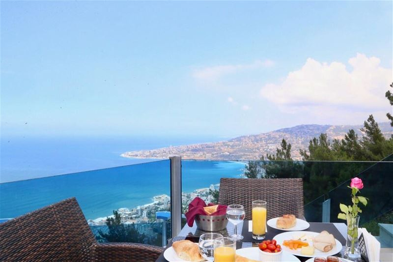 Good morning BeautifulLebanon 🌞💙 BreakfastWithAView WakeUpHappy ... (The Terrace - Restaurant & Bar Lounge)