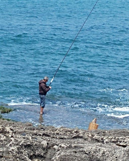 Peace to all.  fishing  beirutscenes  mediterranean  pasttime  fisherman ...
