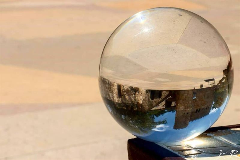 Glassball view of Moussa castle 🌐🌀🏰 MoussaCastle ManMadeWonders ... (Moussa castleقلعة موسى)