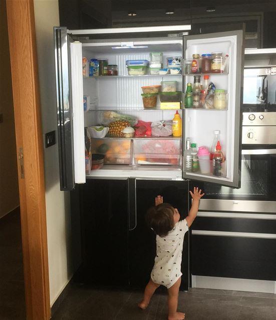 baby babyboy refrigerator apartment home open instagood instalike ... (Ballouneh, Mont-Liban, Lebanon)