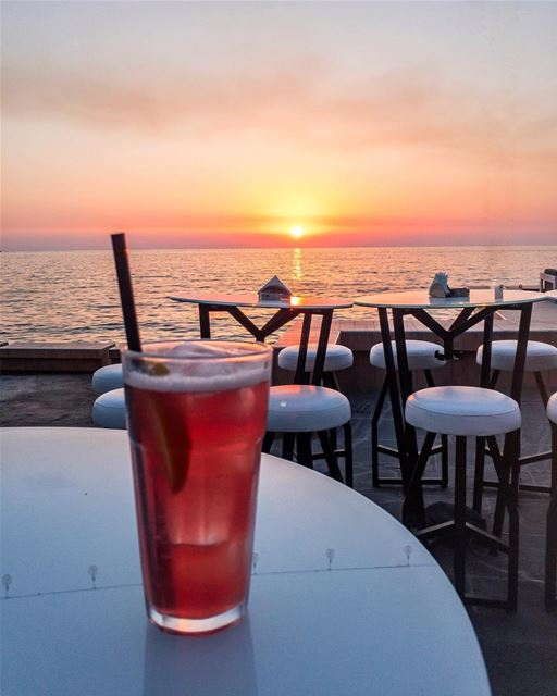 Sunset 🌅 🍸..... BeautifulLebanon ExploreLebanon Lebanese ... (Joünié)