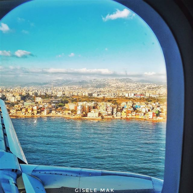 The beating city. plane  sea  cityview  citylife  beautifuldestinations ... (Beirut, Lebanon)