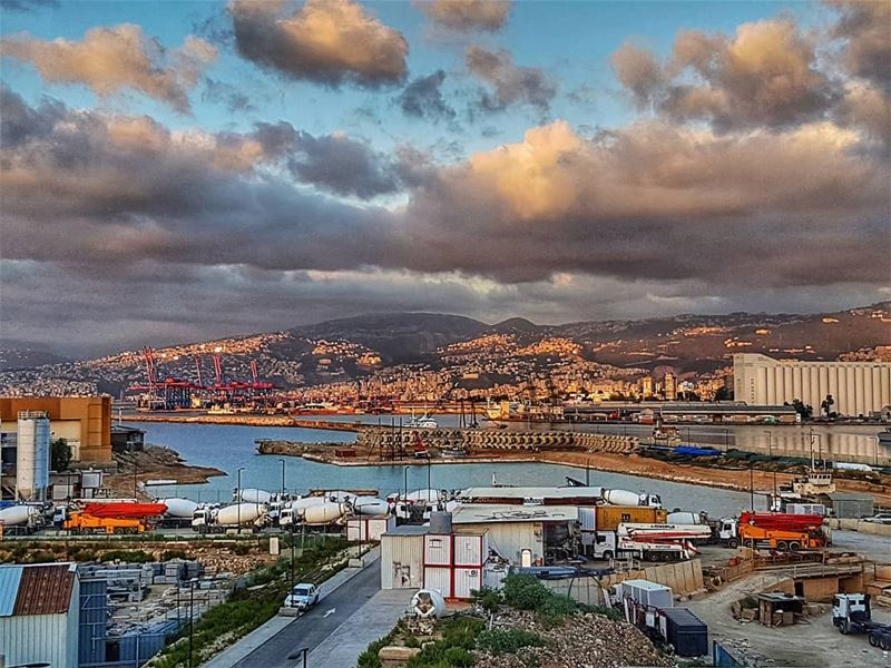 Beirut seafront and port at the golden hour  sunsetsky  sunset  goldenhour... (Downtown Beirut)