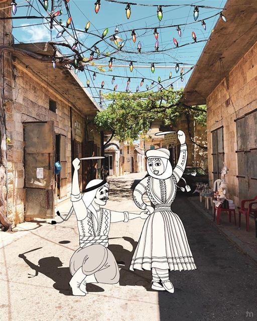 - يلا عالدبكة -..... livelovedouma art_help douma positivevibes ... (Douma, Liban-Nord, Lebanon)