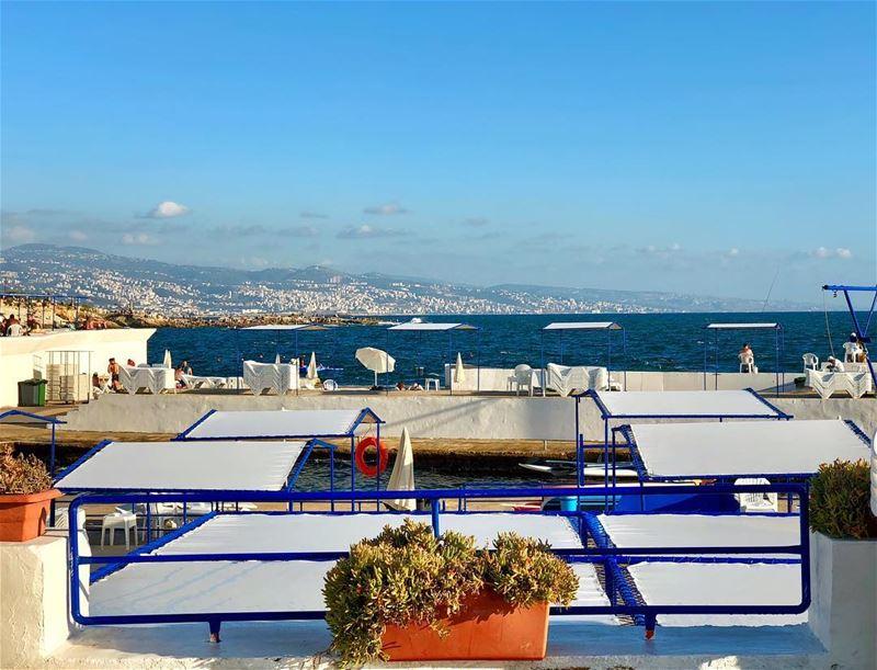Summer Beach Beirut Landscape AirportView 🌊☀️⚓️ (Sporting Club Beach)